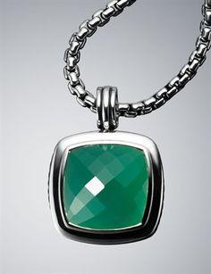 Green Onyx Pendant by David Yurman.
