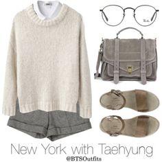New York with Taehyung
