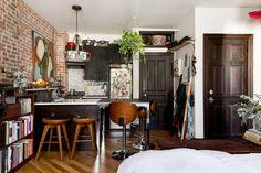 Combinando estilos en un mini apartamento de 28 m²
