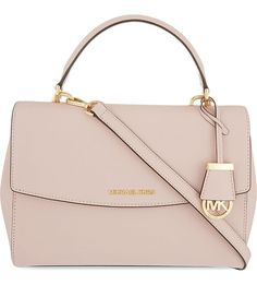 MICHAEL MICHAEL KORS - Ava medium Saffiano leather satchel | Selfridges.com