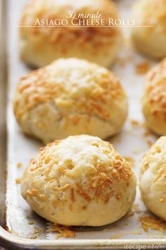 Omg!!!!! So excited! !!! 30 Minute Asiago Cheese Rolls