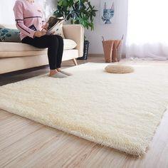 Black, 4 x 5.3 FlashLTD Fluffy Ultra Soft Shaggy Area Rugs for Bedroom Fluffy Carpet for Kids Room Bedside Nursery Mats
