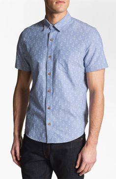 1901 Pattern Print Oxford Shirt