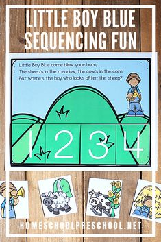 Printable Little Boy Blue Sequencing Activity for Kids