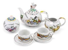 Mad hatters' essentials - how cute are these? I wonder if one could purchase extra tea cups and saucers?