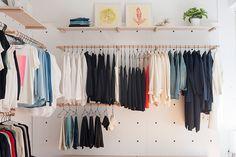 edgy modern style at semblance boutique diy kleiderstange kleiderstange und flure. Black Bedroom Furniture Sets. Home Design Ideas
