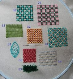 Crewel Work-a collection of crewl stitches