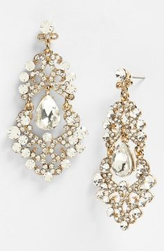 Tasha Ornate Chandelier Earrings   Nordstrom... Gorgeous!! And not too expensive... and in 8 colors!