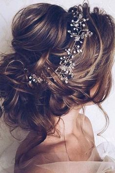 Bridal hair vine crystal and pearl hair vine long hair vine hair vine wedding . - Bridal hair vine crystal and pearl hair vine long hair vine hair vine wedding hair … – # - Wedding Hairstyles For Long Hair, Wedding Hair And Makeup, Pretty Hairstyles, Hair Makeup, Prom Hairstyles, Hairstyle Ideas, Elegant Hairstyles, Bridesmaid Hairstyles, Vintage Hairstyles