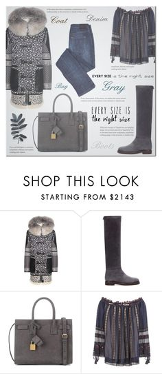 """""""Fall Love"""" by hirw ❤ liked on Polyvore featuring Altuzarra, Loro Piana, Yves Saint Laurent and Chloé"""