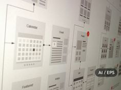 Ad: Website Flowcharts and Site Maps AI by UX Kits on This template provides tons of elements for creating visual website flowcharts and site maps. This is the Illustrator / EPS version. Business Brochure, Business Card Logo, Flow Map, Texture Web, Stickers Design, Flow Chart Template, Web Design, Graphic Design, Logo Design