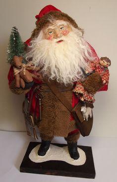 Kim's Klaus~OoaK Art~Handmade Santa Claus~Vintage Antique Christmas~Bear~Doll #KimsKlaus