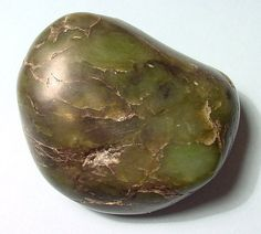 A smoothed piece of nephrite #jade.