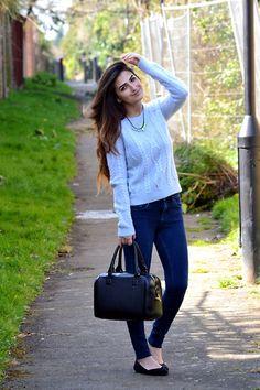 H&M Jumper, Topshop Bag, Office Shoes