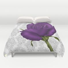 Pretty Beautiful #colorful #flowers #rose #roses #floral #purple #duvetcover Available in different #homedecor products too. ==> #freeshipping #worldwide ends 9 Aug 2015 bit.ly/artistpromolink <==