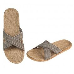 Summer Cross Linen Slippers For Adults