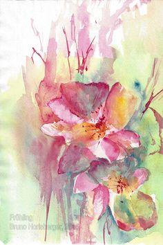 Frühling / Springtime / Primavera / Printemps / 春天 Abstract, Artwork, Painting, Watercolor Painting, Water Colors, Spring, Summary, Work Of Art, Auguste Rodin Artwork