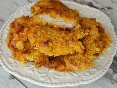 Reteta culinara Snitele de porc in crusta de fulgi de porumb din categoria Porc. Cum sa faci Snitele de porc in crusta de fulgi de porumb Onion Rings, Ethnic Recipes, Pork, Onion Strings