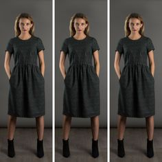 The Day Dress Pattern Hack by The Avid Seamstress, we simply love this lengthened version, it somehow creates a completely different silhouette, on our list of sewing projects for 2017, pattern available from our online store...  www.drapersdaughter.com  #sewing #dressmaking