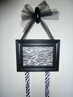 Picture Frame Cheer Bow Holder Organizer Decoration Wall Hanging | eBay