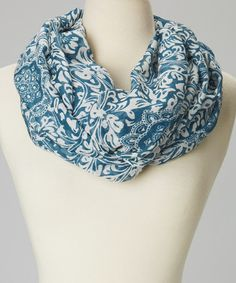 Another great find on #zulily! Blue & White Infinity Scarf #zulilyfinds