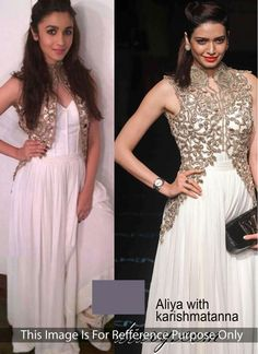 Alia Bhatt Exciting Cream Jacket Style Anarkali Suit