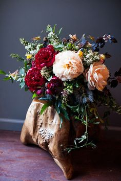 Moody Jewel Tones: Twig & Twine florals by Ryan Haack via 100 Layer Cake