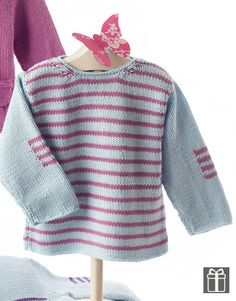 Baby 64 Spring / Summer | 36...free pattern Baby Knitting Patterns, Knitting For Kids, Baby Patterns, Free Knitting, Baby Pullover, Baby Cardigan, Crochet Baby, Knit Crochet, Knitted Baby Clothes