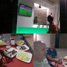 #lacascada watching the #football