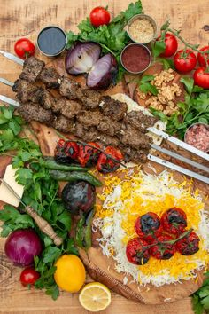 Bengali Food, Iranian Food, Grilled Tomatoes, Food Decoration, Middle Eastern Recipes, Pomegranate, A Food, Deserts, Meals