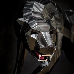 Paper Artist, Black Panther, Rigs, Sculptures, Paper Crafts, Fictional Characters, Design, Wedges, Tissue Paper Crafts