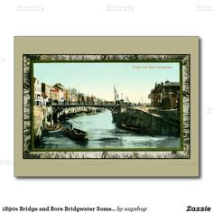 1890s Bridge and Bore Bridgwater Somerset Postcard