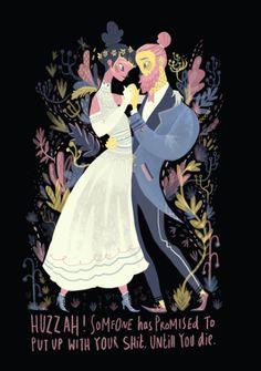 Wedding Invite by Karl James Mountford