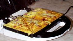 Hand and Cheese Omelet in sandwich maker