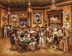 Framed Western Saloon Print