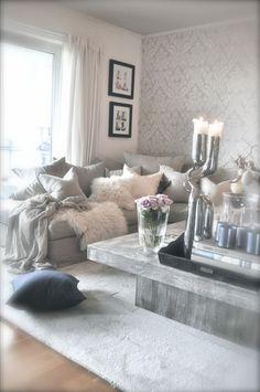 VillaPaprika - Gray romantic living room. Inspiration Photo, Interior Design