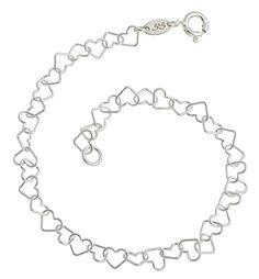 Zartes Armband mit kleinen Herzchen - echt Silber 925