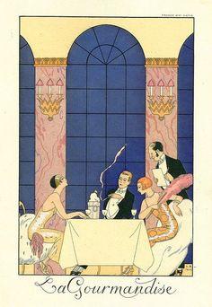 La gourmandise - George Barbier