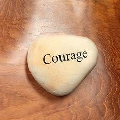Engraved  Beach Pebble Message Stone - Courage