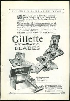 1925 Gillette Safety Razor Blades Magazine Advertisement