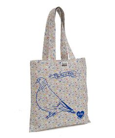 Take a look at this Floral Pigeon Tote Bag by Talented Totes on #zulily today!