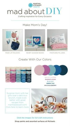 Mad About DIY: Three DIY Ways To Make Mom's Day this Mother's Day with Martha Stewart Crafts Acrylic Paints