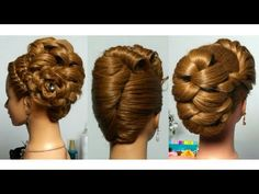 3 Wedding Updos. Bridal Hairstyles For Long Hair - YouTube