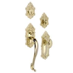GRAND VICTORIAN HANDLE TO EGG KNOB ENTRY SET