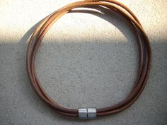 5mm Distressed Brown Triple Strand Leather by DesignsbyPattiLynn, $60.00