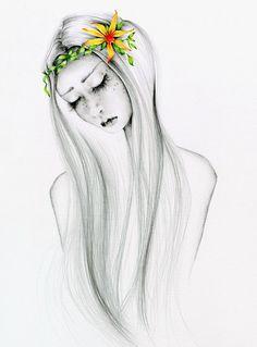 Original Drawing OOAK Art Pencil Drawing by ABitofWhimsyArt