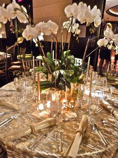 LMD Lewis Miller table for the Orchid Dinner