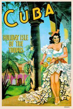 1950's Cuba tourism poster