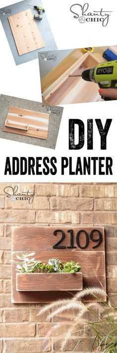 DIY address number wall planter - www.shanty-2-chic.com