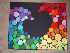 """Ozwest's wall hanging based on the """"Color Wave"""" quilt pattern."""